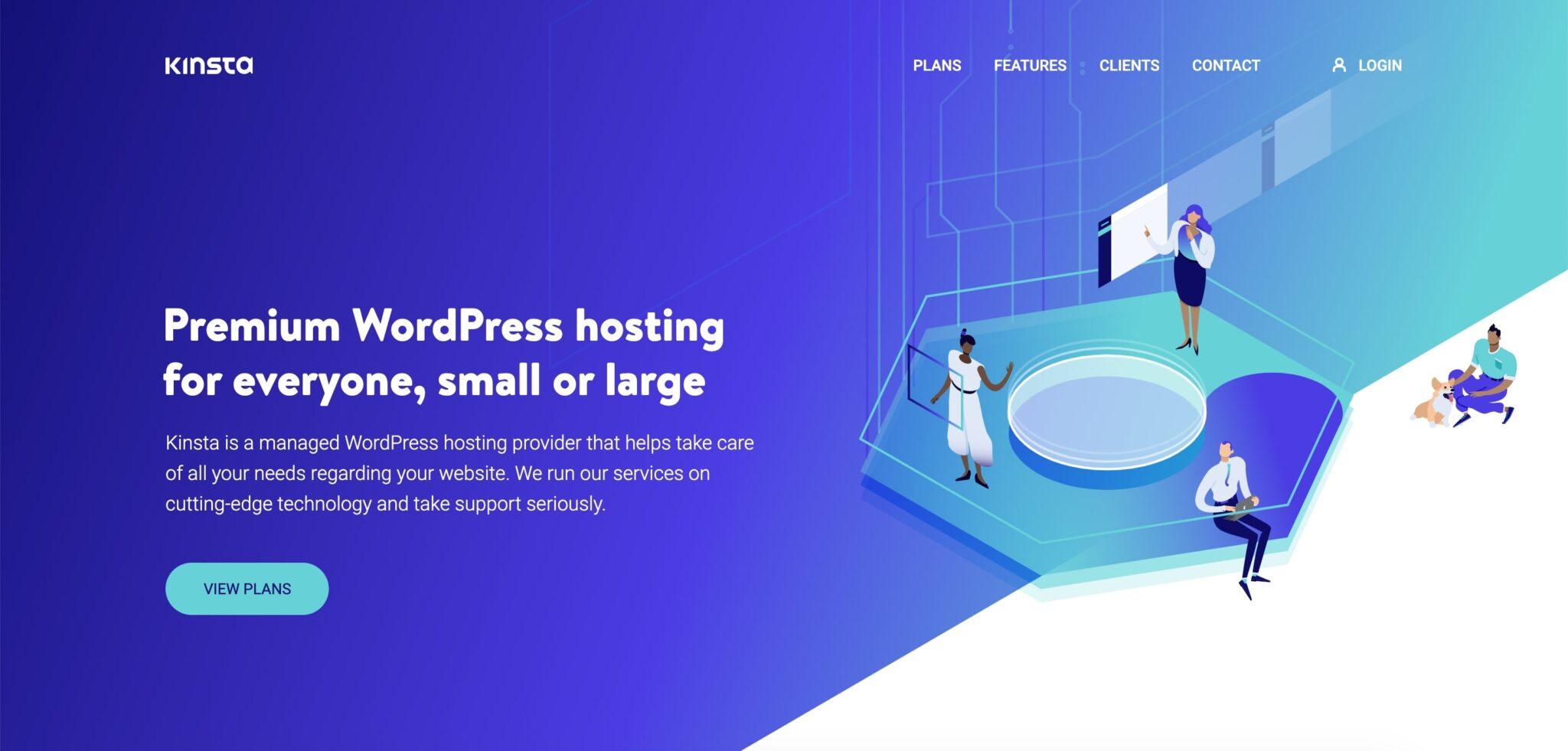 Kinsta veebimajutus WordPressi veebilehtedele